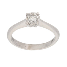 Load image into Gallery viewer, 18ct White Gold 0.33ct Round Cut Diamond Ladies Solitaire Ring Size K