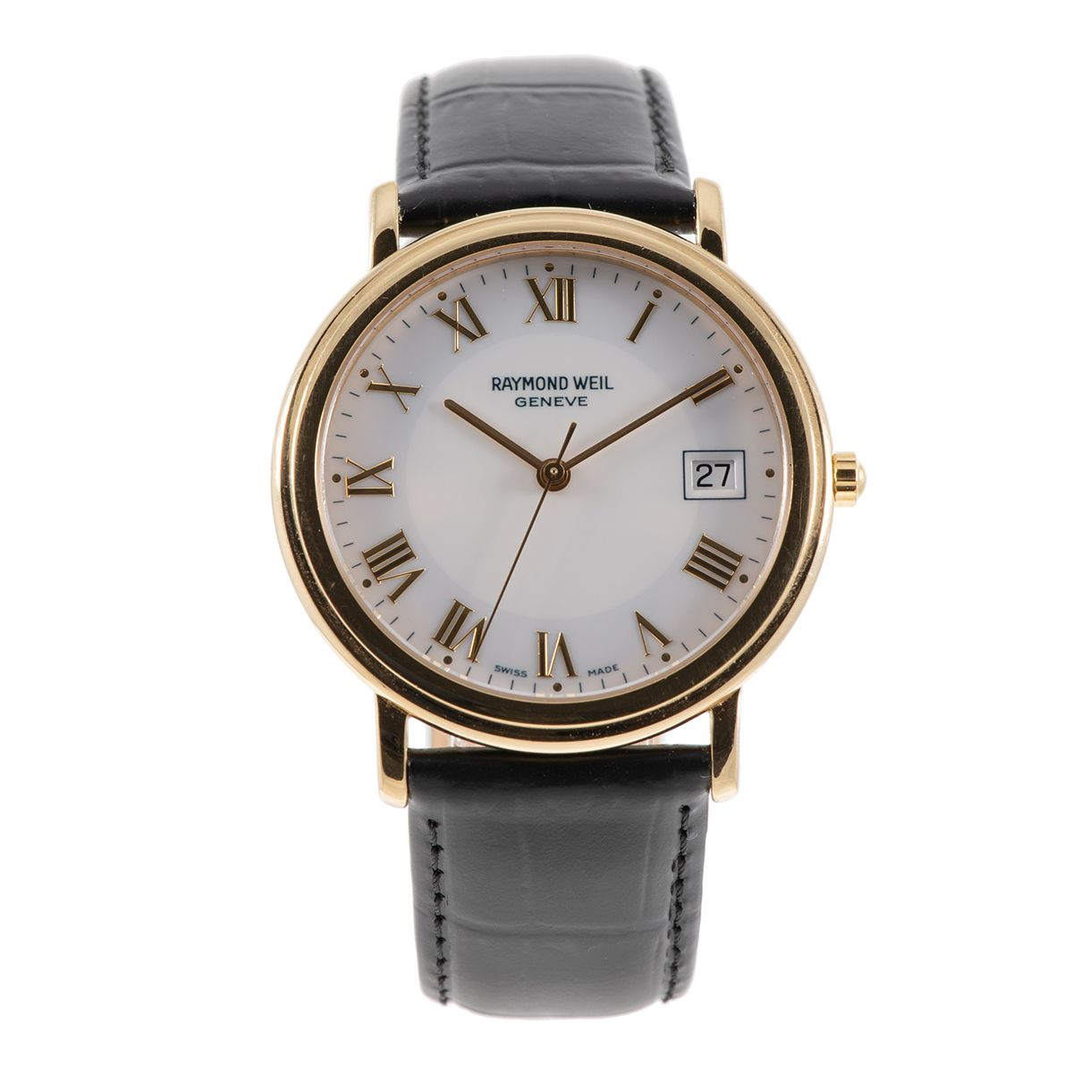 Raymond Weil Tradition 5575 Gold Plated & White 36mm Mens Watch