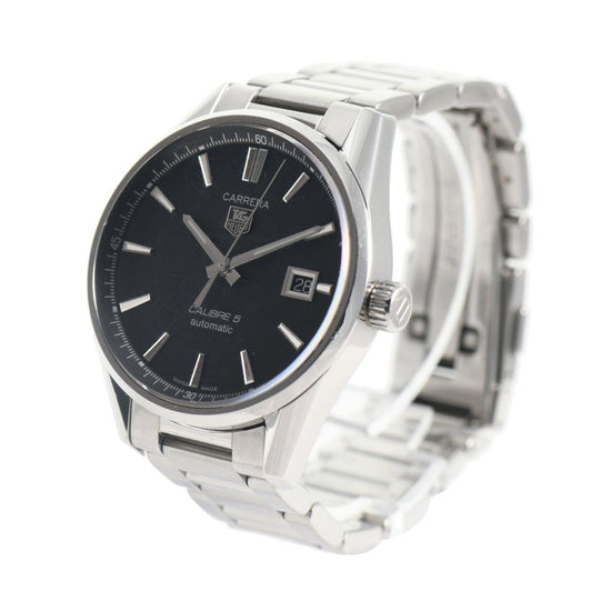 Tag Heuer Carrera Automatic WAR211A-1 Black Dial 38mm Mens Watch