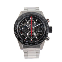 Load image into Gallery viewer, Tag Heuer Carrera Automatic Chronograph CAR2A1W-0 Black Skeleton Dial 45.5mm Mens Watch