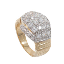 Load image into Gallery viewer, 9ct Yellow Gold Cubic Zirconia Boxing Glove Mens Ring Size Z+1