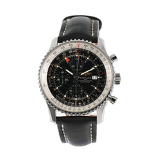 Load image into Gallery viewer, Breitling Navitimer World A24322 Steel & Black 46mm Mens Watch