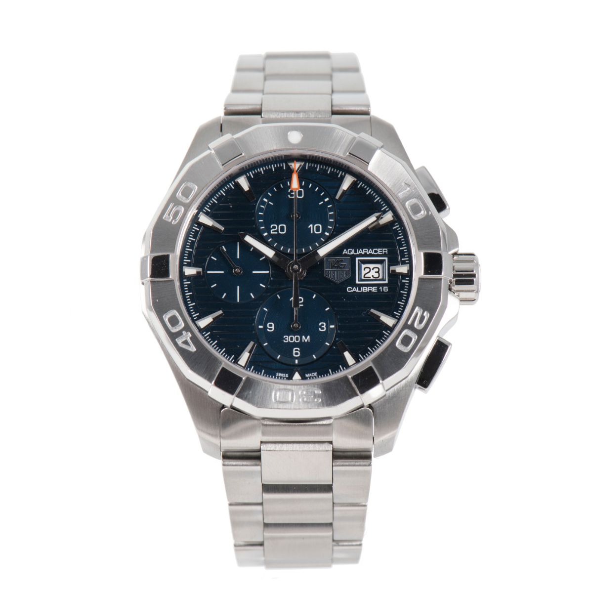 Tag Heuer Aquaracer Automatic Chronograph CAY2112 Blue Dial 44mm Mens Watch