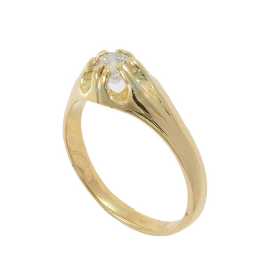 18ct Gold Ladies 0.70ct Diamond Solitaire Ring Size W C6F