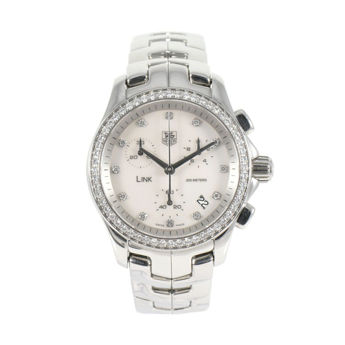 TAG Heuer Link CJF1214 Mother of Pearl & Diamond 34mm Ladies Watch