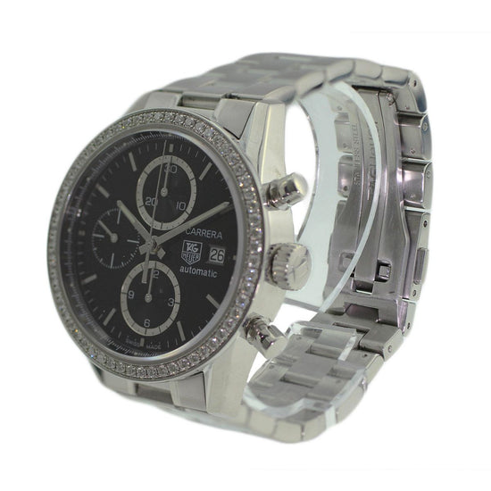 Tag Heuer Carrera CV201J - 41mm Stainless Steel Mens Watch