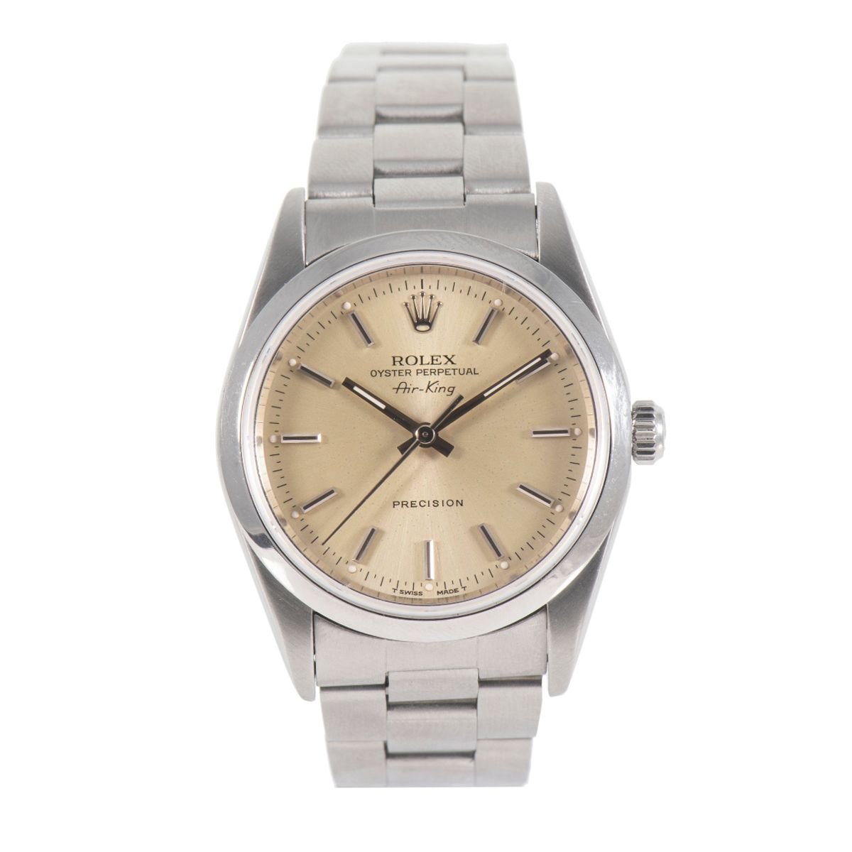 Rolex Air King 14000 Stainless Steel & Grey 34mm Mens Watch