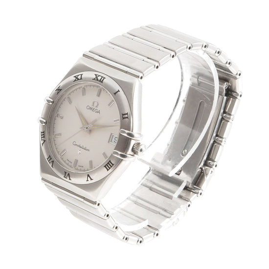Omega Constellation Stainless Steel & White 34mm Mens Watch