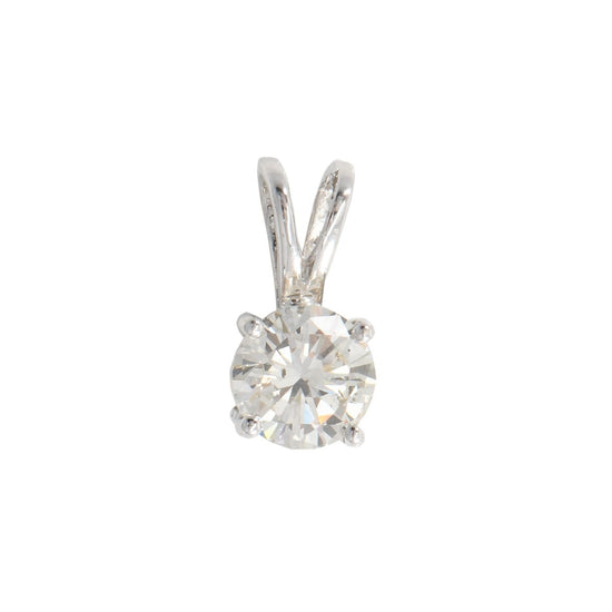 14ct White Gold 0.90ct Sparkling Diamond Solitaire Pendant