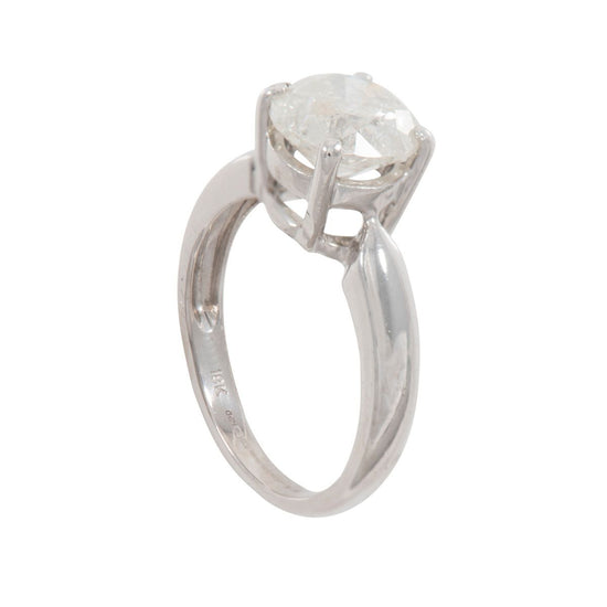 18ct White Gold 2.26ct Diamond Solitaire Ring Size L
