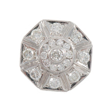 Load image into Gallery viewer, 18ct White Gold 3.67ct Diamond Cluster Ring Mens Size X