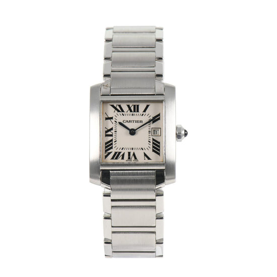Cartier Tank Francaise 2465 Steel 25mm Mens Watch