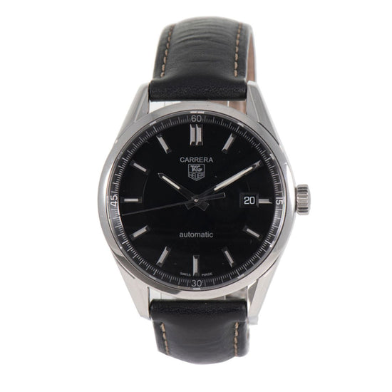 Tag Heuer Carrera Automatic WV211B-3 Black Dial 40mm Mens Watch
