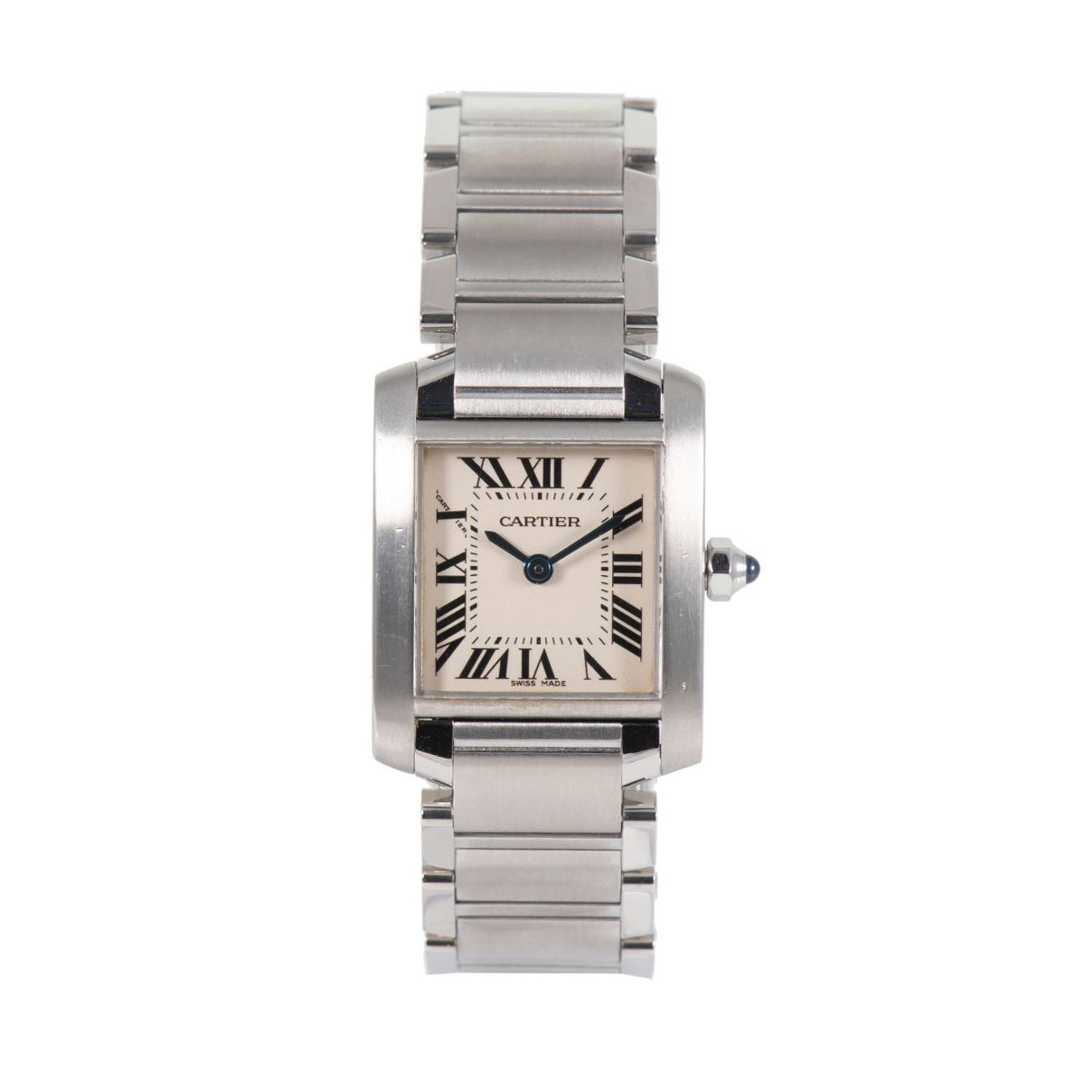 Cartier Tank Francaise 2384 -  20mm stainless Steel Ladies Watch 6#NY%6