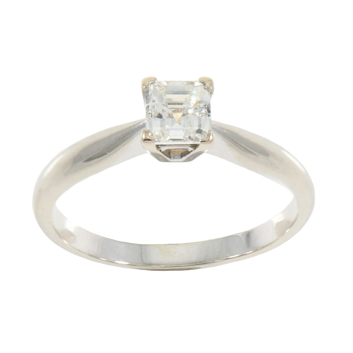 18ct White Gold 0.56ct Solitaire Ring Size M QGVTNL