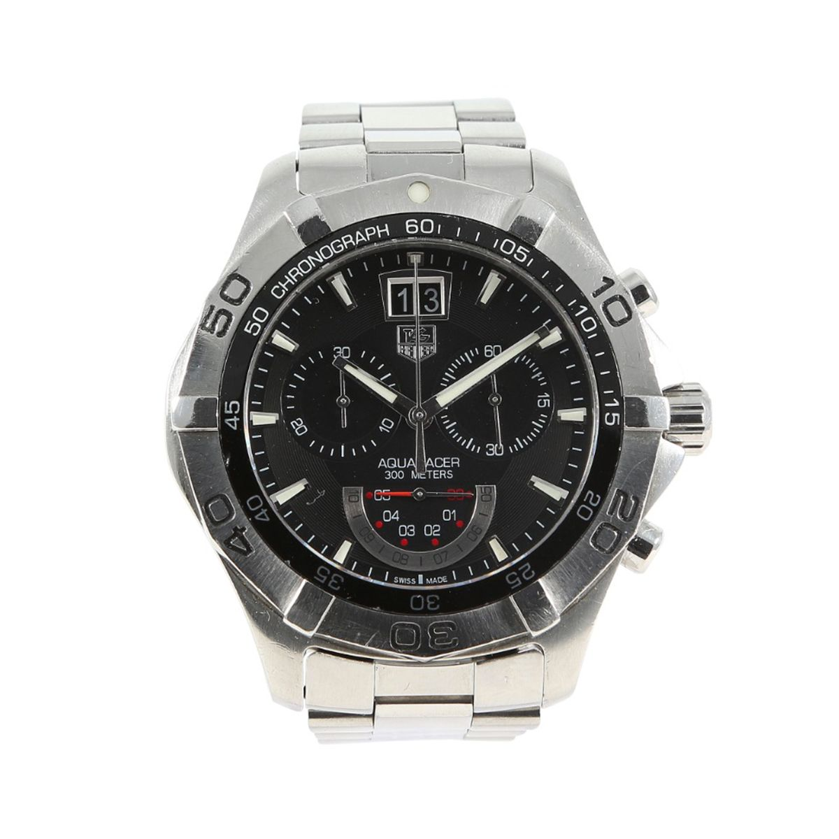 Tag Heuer Aquaracer CAF101A Quartz Black 43mm Mens Watch