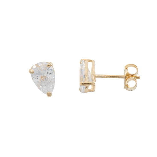 Cubic Zicrconia 9ct Gold Stud Earrings