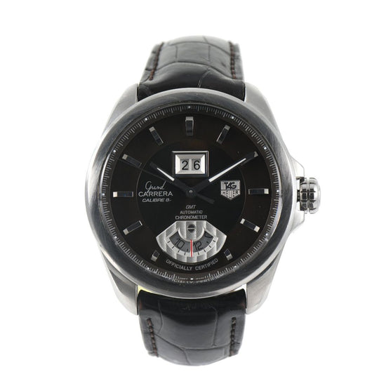 Tag Heuer Grand Carrera Calibre 8 Automatic WAV5113 Black Dial 44mm Mens Watch