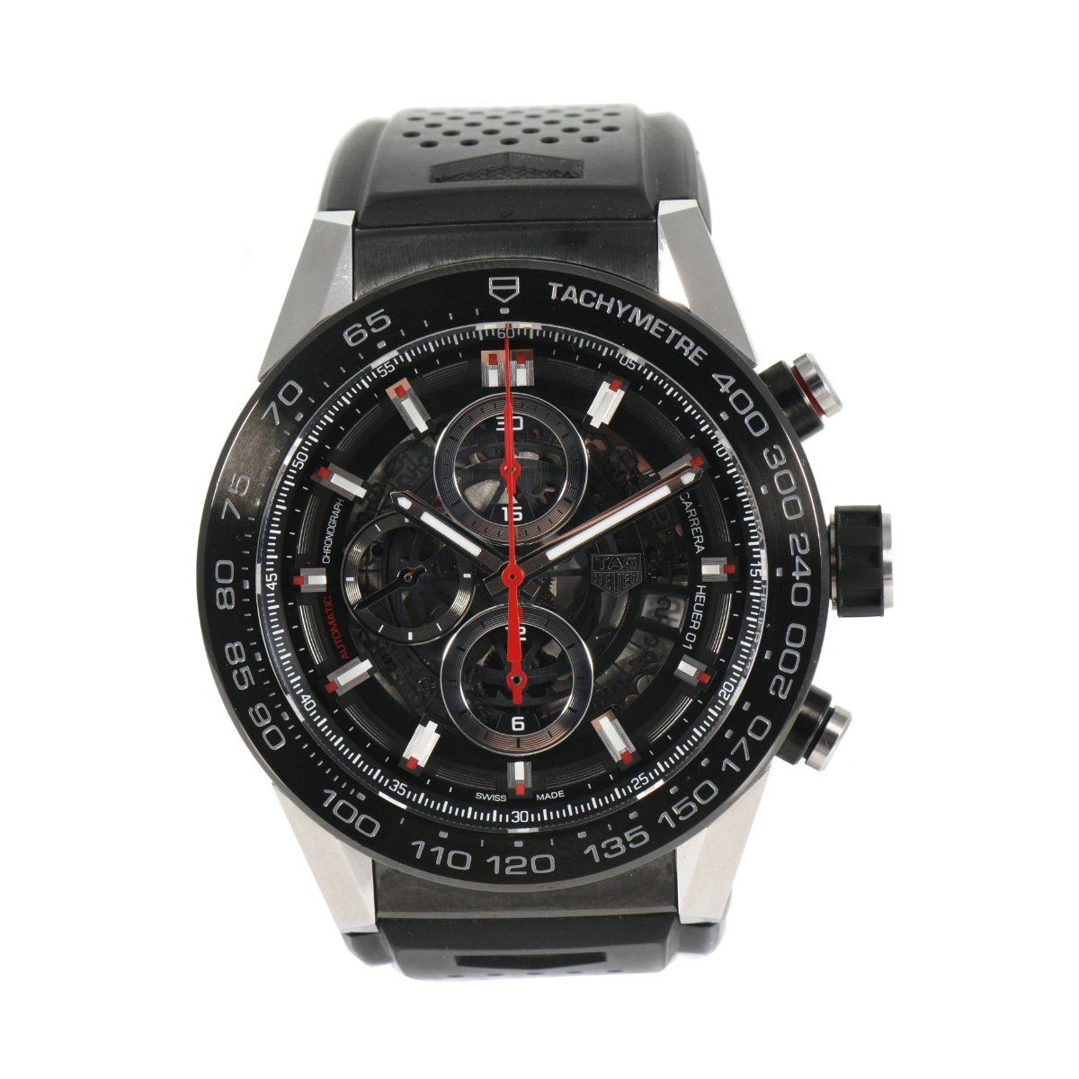 Tag Heuer Carrera Automatic Chronograph CAR2A1Z Black Dial 45mm Mens Watch