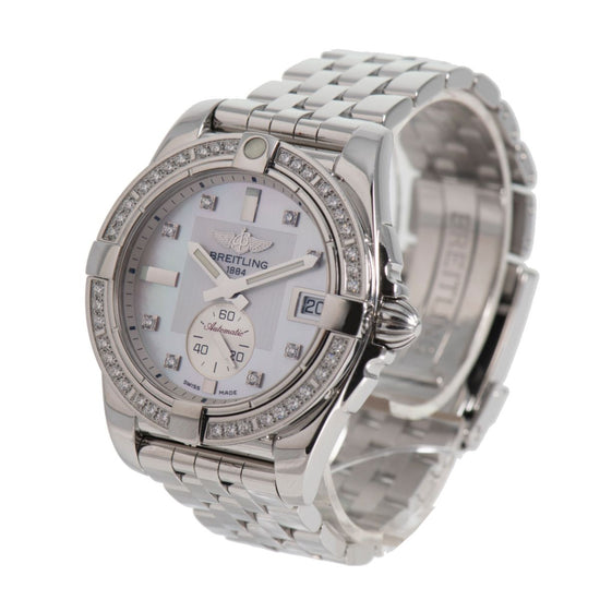Breitling Galactic Automatic A37330 Diamond Dial 36mm Mens Watch