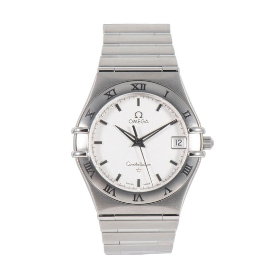 Omega Constellation Quartz Grey Dial 33.5mm Mens Watch