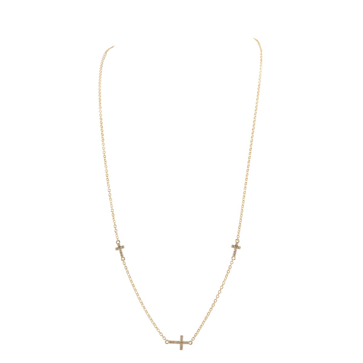 9ct Gold Stone Set Fancy Chain (18