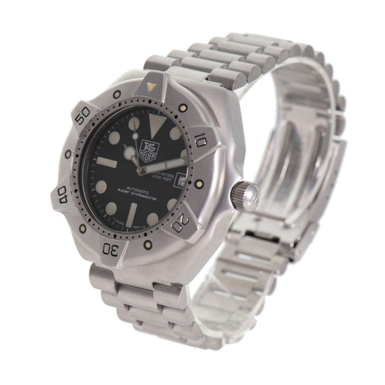 Tag Heuer Professional WS2110-2 Steel & Black 43mm Mens Watch