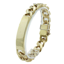 Load image into Gallery viewer, 9ct Yellow Gold Gents Classic 20.5cm Identity Bracelet