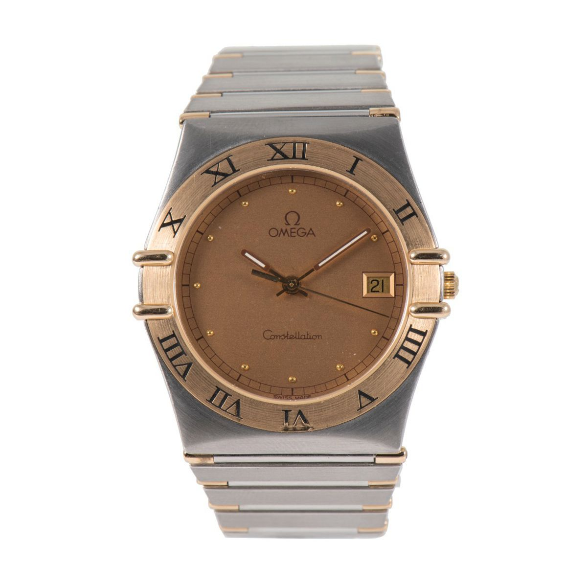 Omega Constellation Quartz Champagne Dial 32mm Mens Watch
