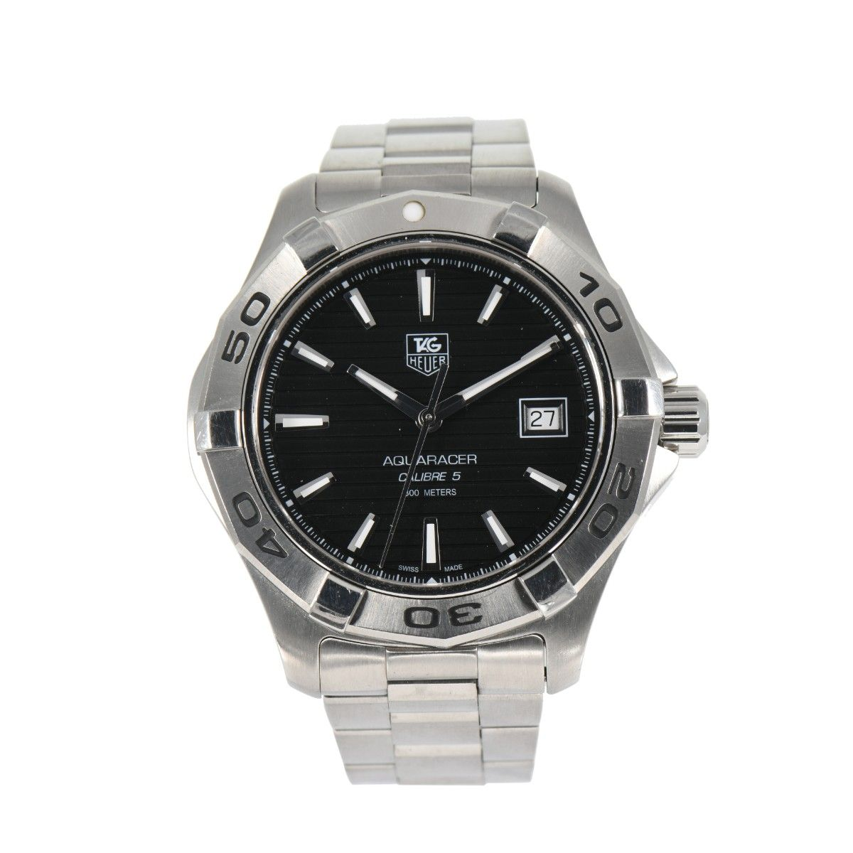 Tag Heuer Aquaracer Automatic WAP2010 Black Dial 41mm Mens Watch