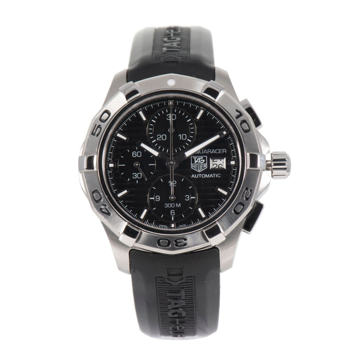 Tag Heuer Aquaracer Automatic Chronograph CAP2110 Black Dial 43mm Mens Watch