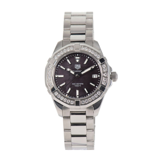 Tag Heuer Aquaracer WAY131P Steel & Black Mother Of Pearl 35mm