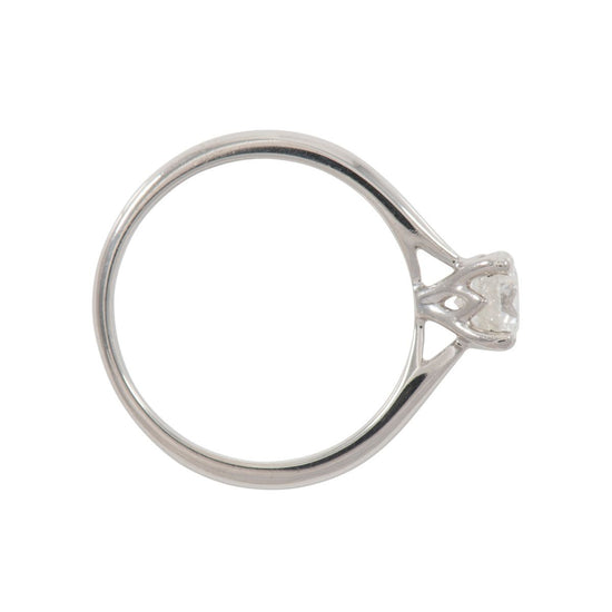Platinum Ladies Round 0.60ct Solitaire Diamond Ring Size M