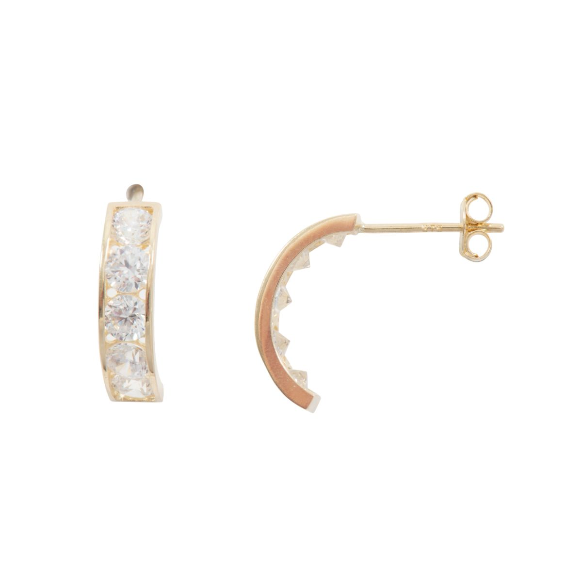 CZ Half Hoop Earrings - 3HPYRA