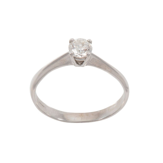 18ct White Gold Diamond Solitaire Ring Q