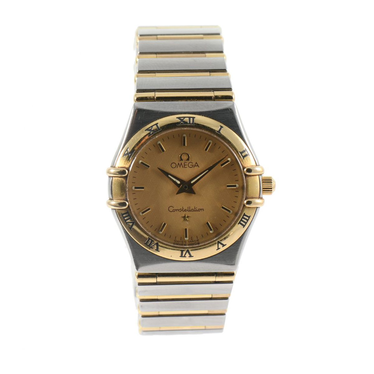 Omega Constellation Quartz Champagne Dial 25mm Ladies Watch