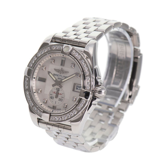 Breitling Galactic A37330 Steel & Mother Of Pearl Daimonds 36mm Ladies Watch