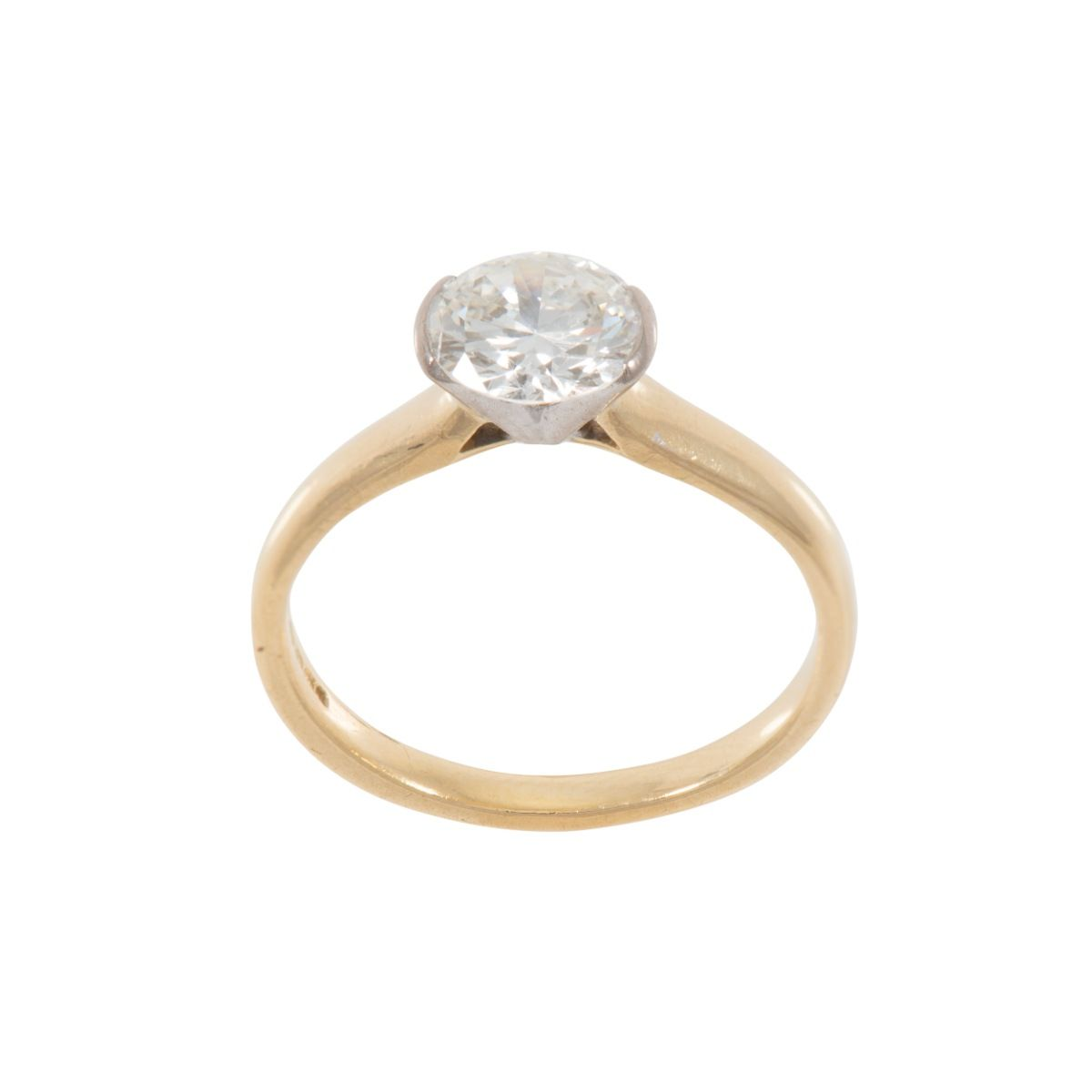 18ct Yellow Gold 1.39ct Diamond Solitaire Ring Ladies Size Q