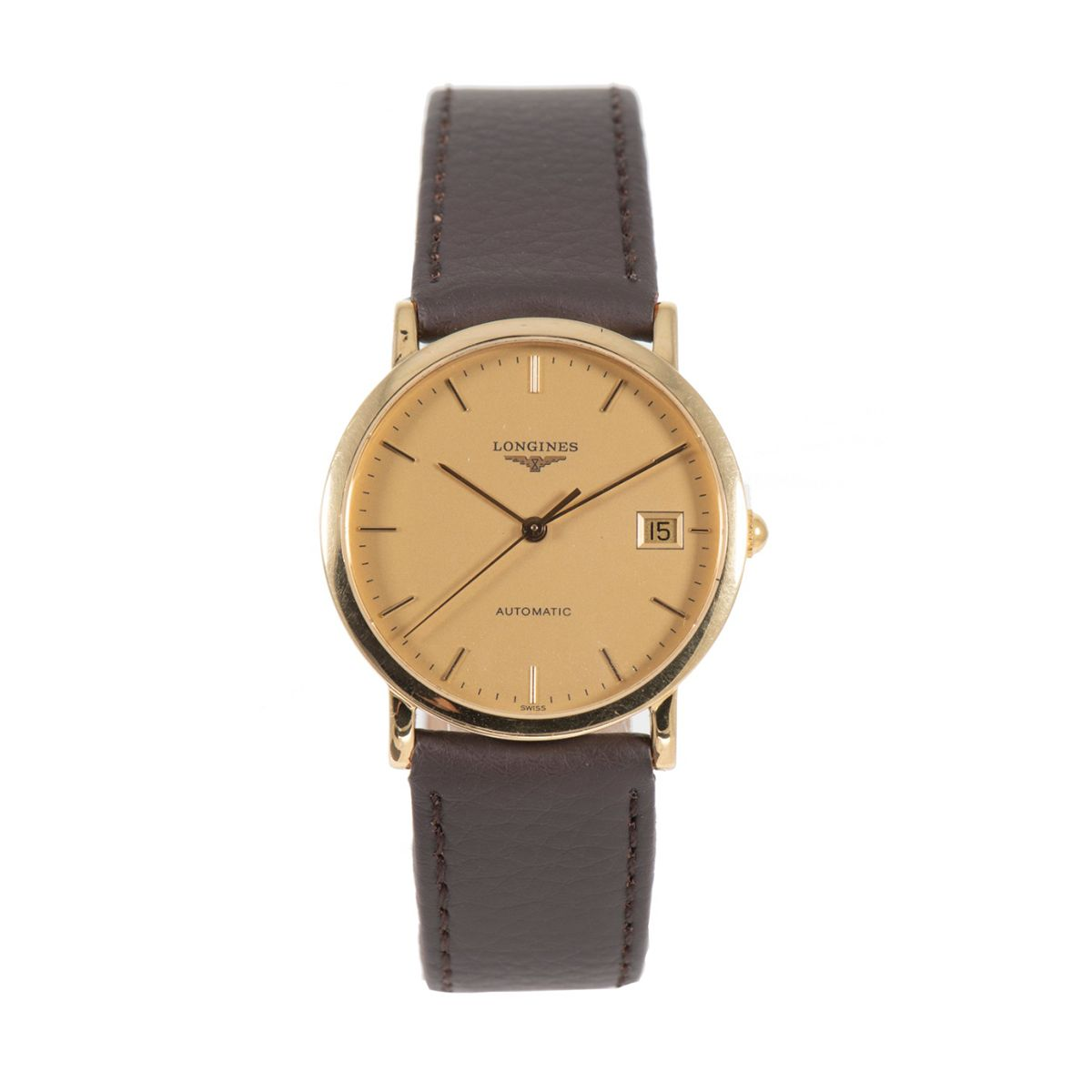 Longines Elegant L4.778.6 Automatic Gold 34.5mm Mens Watch