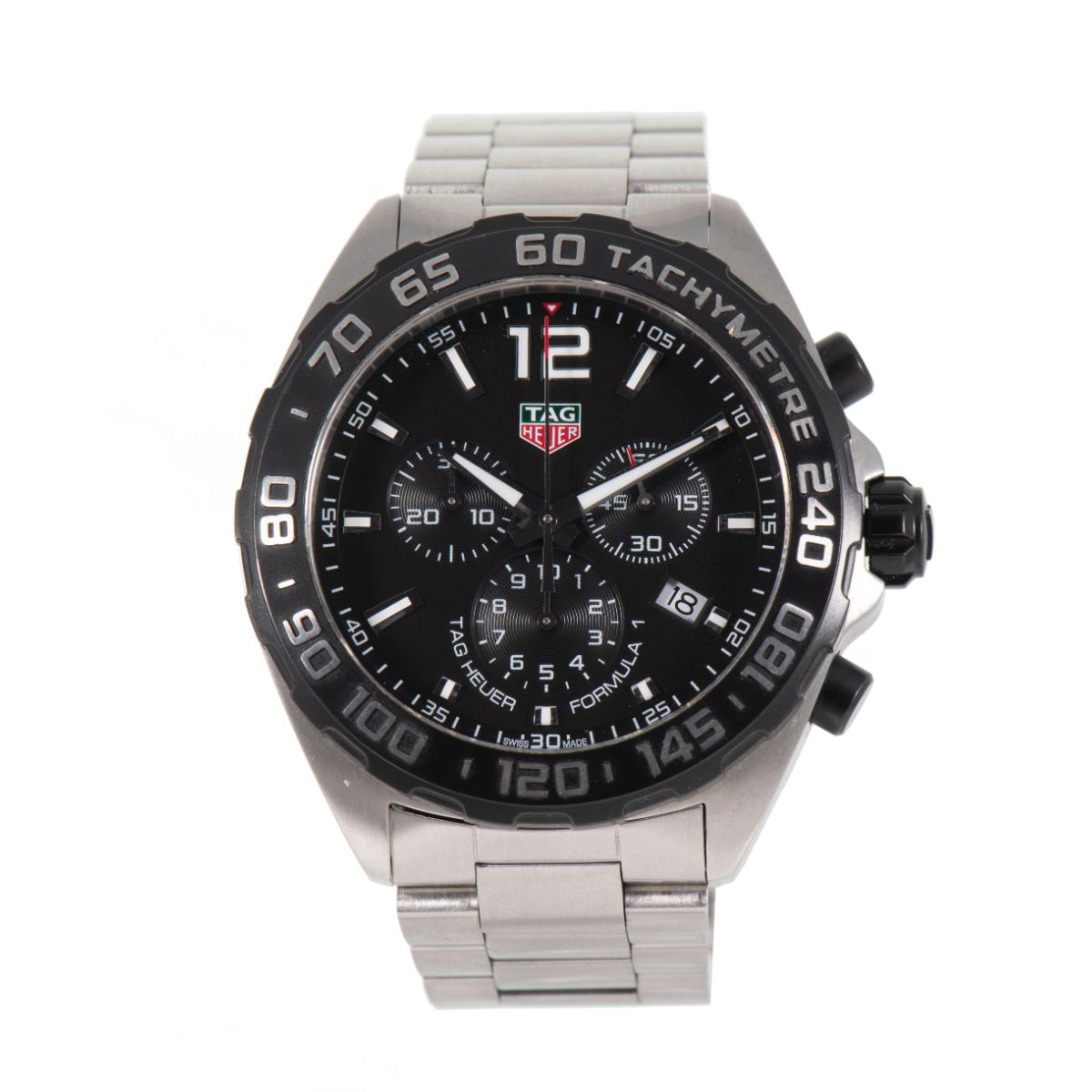 TAG Heuer Formula 1 CAZ1010 Black & Steel 43mm Mens Watch