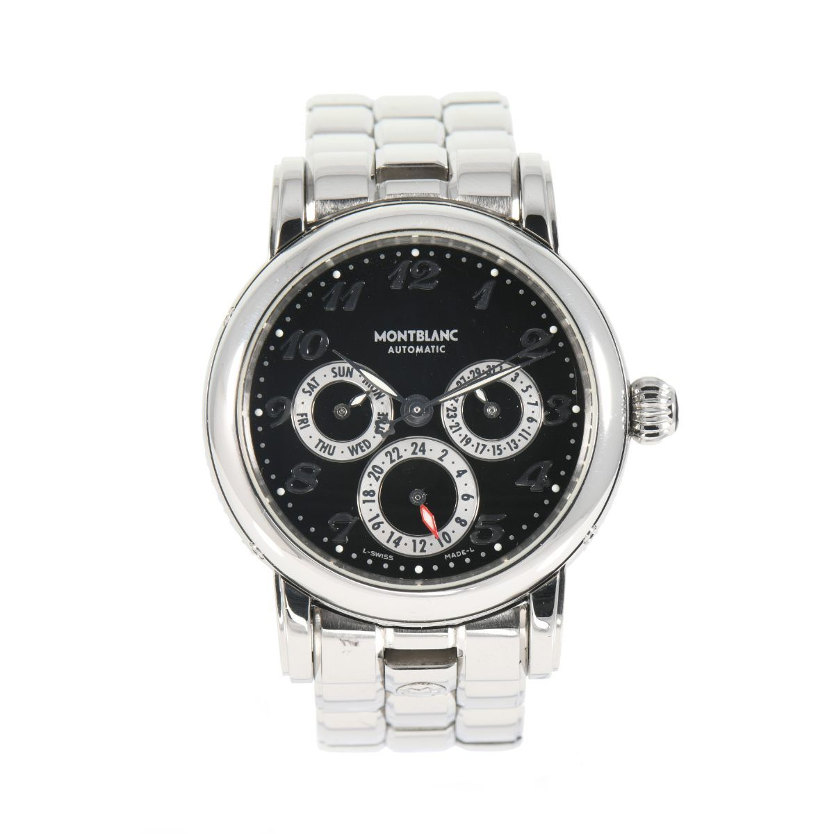 Montblanc Meisterstuck 7018 Dual Time Automatic 37mm Mens Watch