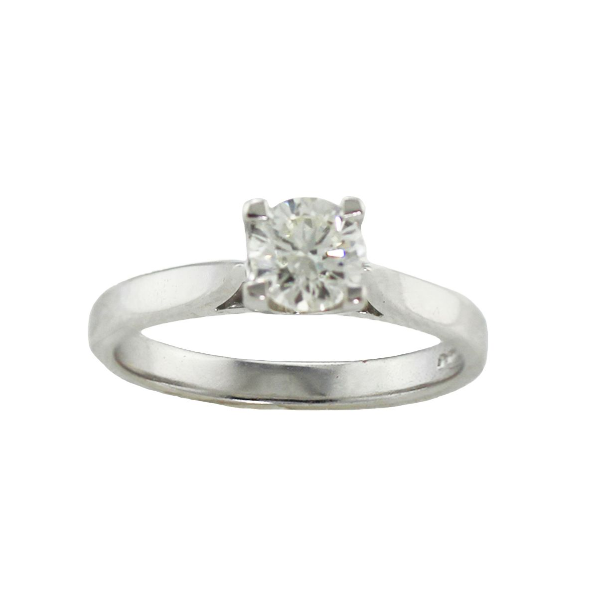 18ct White Gold 0.55ct Diamond Solitaire Ring Ladies Size L