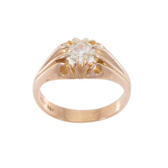 14ct Yellow Gold 0.50ct Diamond Solitaire Single Stone Ladies Ring Size P