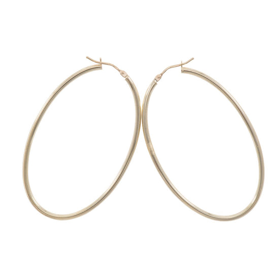 9ct Gold Plain Creole Earrings