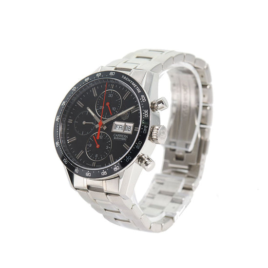 Tag Heuer Carrera Chronograph Automatic CV201AH Black Dial 41.5mm Mens Watch