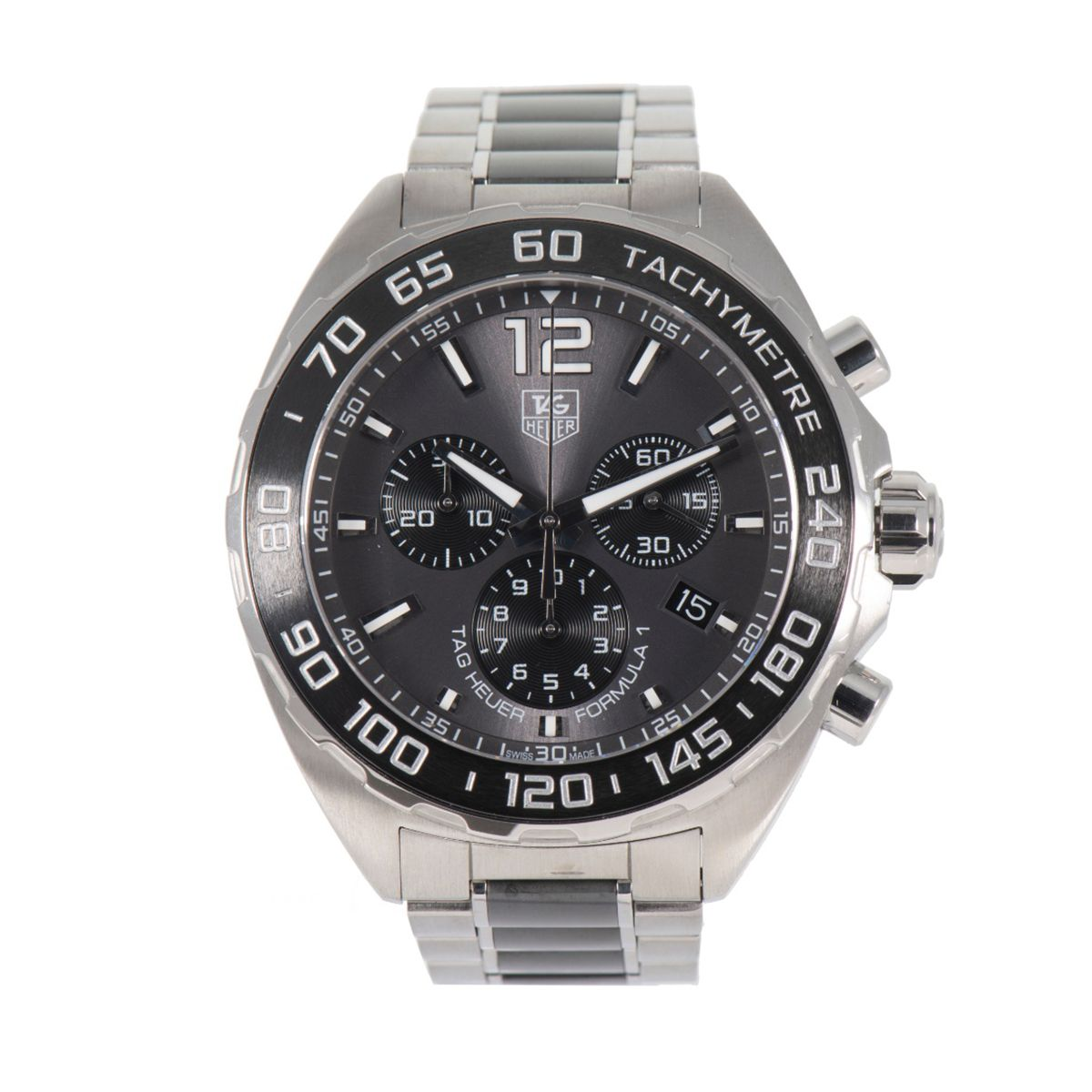 TAG Heuer Formula 1 CAZ1111 Grey & Steel 42mm Mens Watch