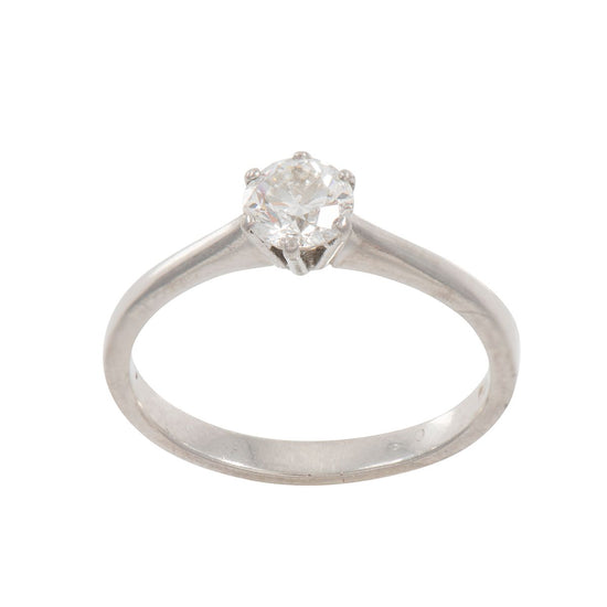 Platinum 0.55ct Diamond Solitaire Ring Ladies Size O