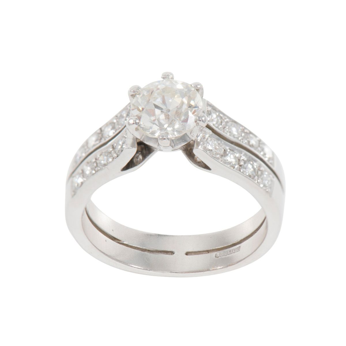1.67ct Diamond Accent Solitaire Ring (M)