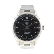 Load image into Gallery viewer, Tag Heuer Carrera WV2115-0 38mm Black Dial Mens Watch