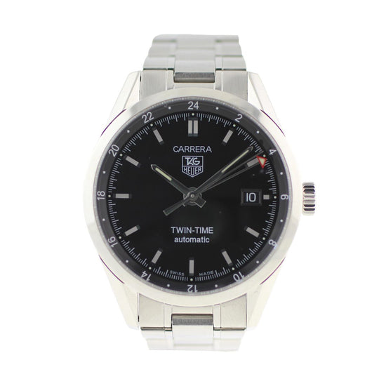 Tag Heuer Carrera WV2115-0 38mm Black Dial Mens Watch